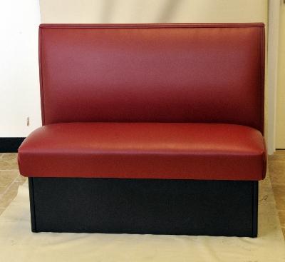 AAF BQS-S42(4) WN Double Restaurant Booth - Plain Back, Vinyl Seat, 42x46