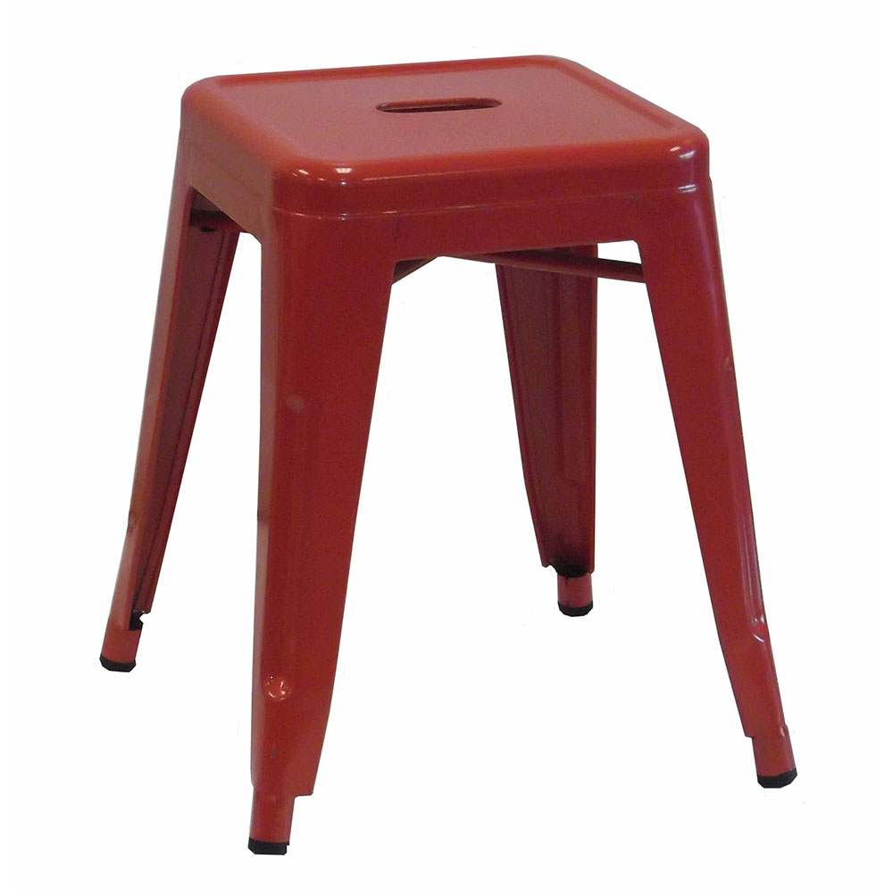 "AAF MC18 18"" Barstool - Recycled Steel, Red Coating"
