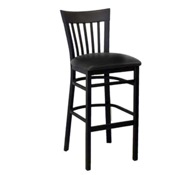 AAF MC205-BSBL Metal Slat Back Barstool w/ Textured & 2-in Padded Seat