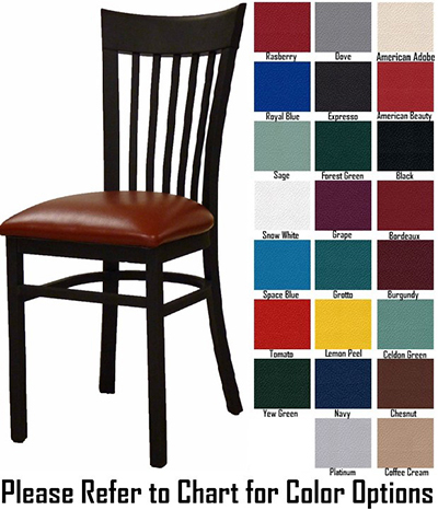 AAF MC205GR5 Metal Slat Back Side Chair w/ Textured & Grade 5,