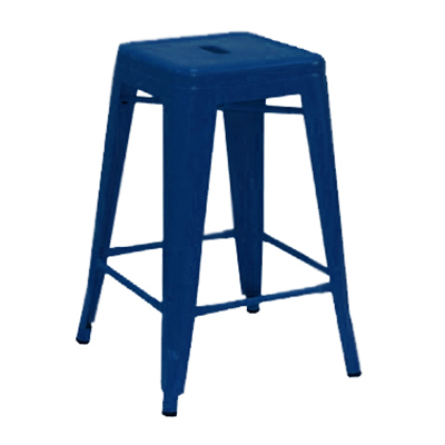 "AAF MC24 24"" Barstool - Recycled Steel, Blue Coating"