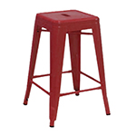 "AAF MC24 24"" Barstool - Recycled Steel, Red Coating"