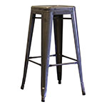 "Aaf MC30 30"" Barstool - Recycled Steel, Clear Coating"