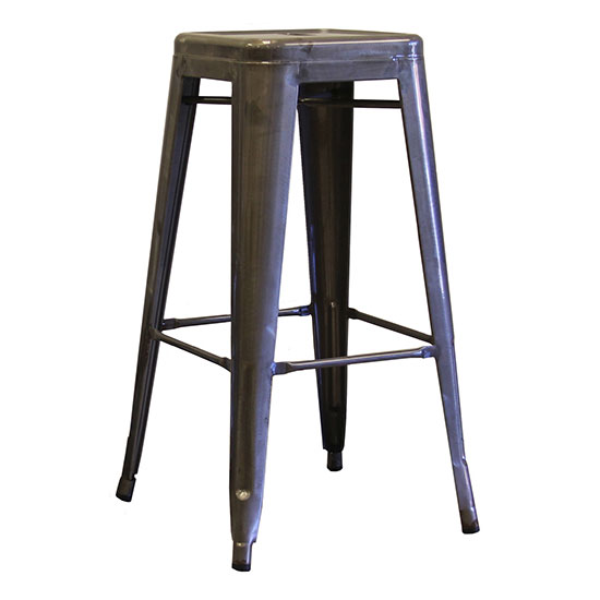 "AAF MC18 18"" Barstool - Recycled Steel, Clear Coating"