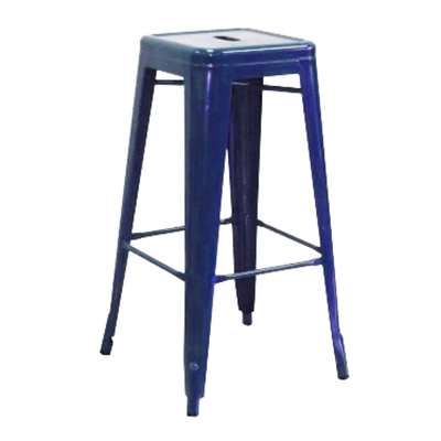 "AAF MC30 30"" Barstool - Recycled Steel, Blue Coating"
