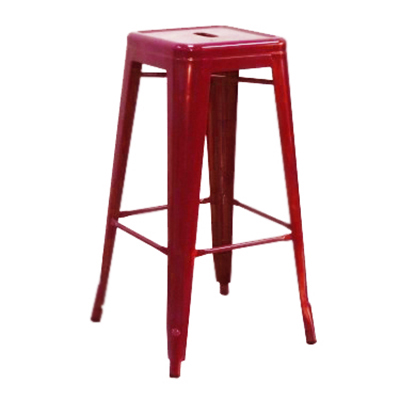 "AAF MC30 30"" Barstool - Recycled Steel, Red Coating"