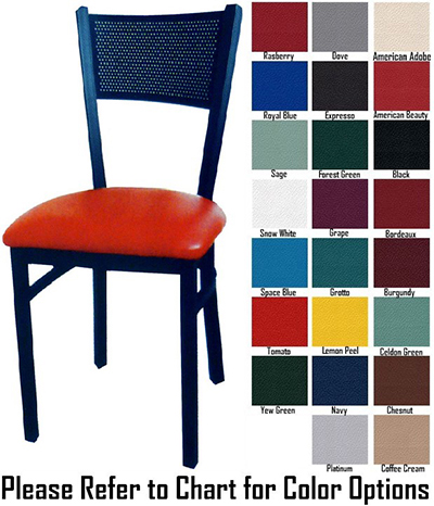 AAF MC311GR5 Metal Mesh Back Side Chair Textured & Grade 5,