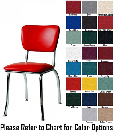 AAF MC329GR5 Retro Side Chair w/ Upholstered Back & Seat, Floor Glides Grade 5,
