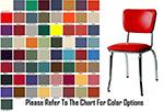 AAF MC329GR6 Retro Side Chair w/ Upholstered Back & Seat, Floor Glides Grade 6,