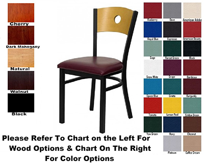 AAF MC350AGR5 Upholstered Side Chair w/ Circle Cutout & 5 Padded Seat ,