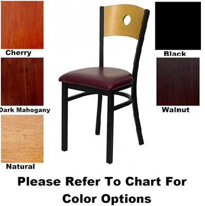 AAF MC350AWS Circle Cutout Back Side Chair w/ Solid Wood Seat & 16-ga Steel