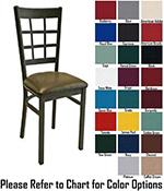 AAF MC450GR5 Upholstered Side Chair w/ Metal 9-Grid Window Back & Grade 5,