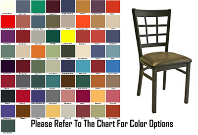 AAF MC450GR6 Upholstered Side Chair w/ Metal 9-Grid Window Back & Grade 6,