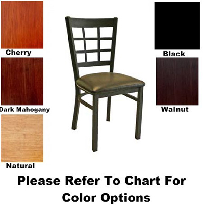 AAF MC450WS Side Chair w/ 9-Grid Window Back & Solid Wood Seat, Textured