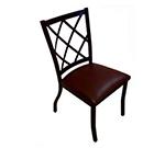 AAF MC460BL Upholstered Side Chair Metal Diamond Back Pad Seat Textured