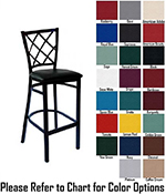 AAF MC460BSGR5 Upholstered Barstool w/ Metal Diamond Back & Grade 5,