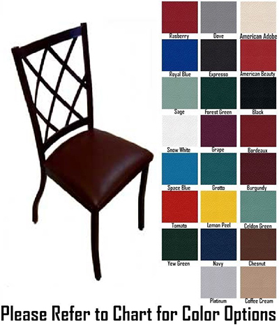 AAF MC460GR5 Upholstered Side Chair w/ Metal Diamond Back & Grade 5,