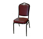 AAF MC500BL Shield Back Banquet Stacking Chair w/ Handhold Padded Waterfall Seat