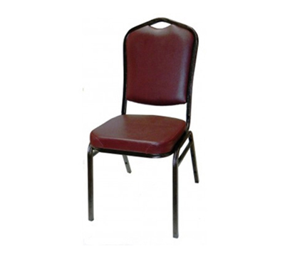 AAF MC500RD Shield Back Banquet Stacking Chair Handhold Padded Waterfall Seat