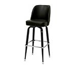 AAF MS18B-LBL Heavy Duty Swivel Barstool w/ Upholstered Bucket Style Seat & Black Vinyl