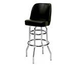 AAF MS2B-LRD Upholstered Bucket Style Swivel Barstool w/ Chrome Plated Frame, Wine Vinyl