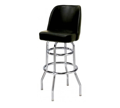 Aaf MS2B-LRD Upholstered Bucket Style Swivel Barstool w/ Chrome Plated Frame, Wine Vinyl