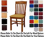AAF WC811GR5 Upholstered Schoolhouse Side Chair w/ Wood Slat Back, Support Bars, Grade 5
