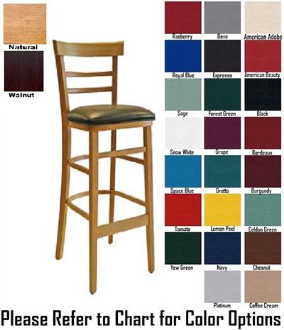 Aaf WC836-BSGR5 Economy Barstool w/ Wood Ladder Back & German Beech Wood, Grade 5