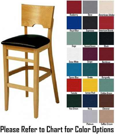 AAF WC855-BSGR5 German Beech Wood Barstool w/ Niche Back & German Beech Wood, Grade 5