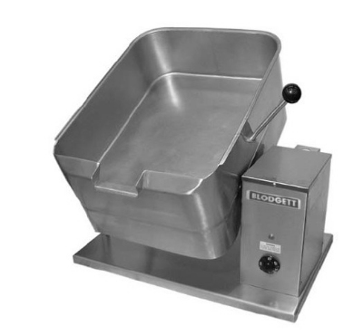 Blodgett 10E-BTT 2081 10-Gallon Counter Tilting Braising Pan w/ Rectangular Pan, 208/1 V