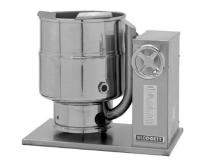 Blodgett 10E-KTC 2081 10-Gallon Countertop Tilting Kettle, Manual Gear Box Tilt, 208/1 V