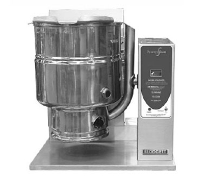 Blodgett 10G-KTT LP 10-Gallon Manual Tilting Kettle w/ Reinforced Rim, LP