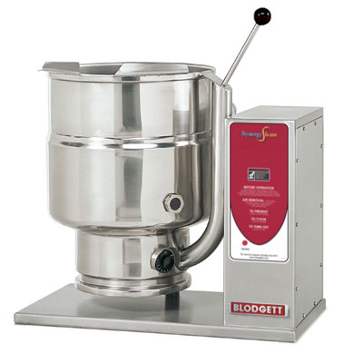 Blodgett 12E-KTT 2401 12-Gallon Table Top Manual Tilting Kettle, Reinforced Rim, 240/1 V