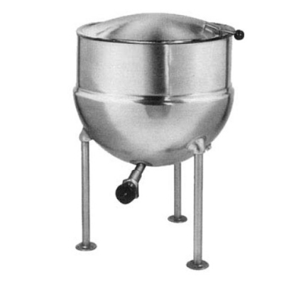 Blodgett 20DS-KLS 20-Gallon Direct Steam Stationary Stainless Kettle w/ Hinged Cover