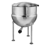 Blodgett 40DS-KLS 40-Gallon Direct Steam Stationary Kettle w/ Hinged Cover