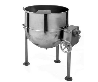 Blodgett 40DS-KLT 40-Gallon Direct Steam Manual Tilting Kettle w/ Hand Crank
