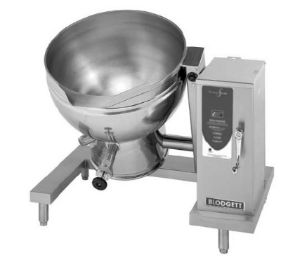 Blodgett 40ES-KLT 2803 40-Gallon Tilting Kettle w/ Self Lock & Manual Crank Tilt, 208/3 V