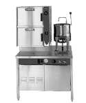 Blodgett 6G-6K-SB (42) LP Manual Steamer Kettle Combo w/ 42-in Boiler Cabinet Base, LP