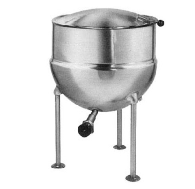 Blodgett 80DS-KLS 80-Gallon Direct Steam Stationary Stainless Kettle w/ Hinged Cover