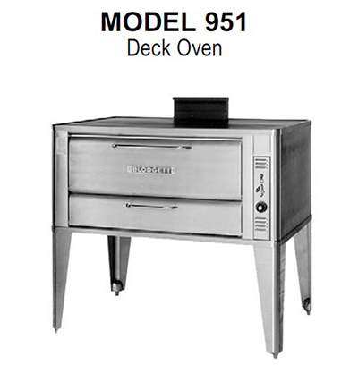 Blodgett 951 DOUBLE Double Multi Purpose Deck Oven, NG