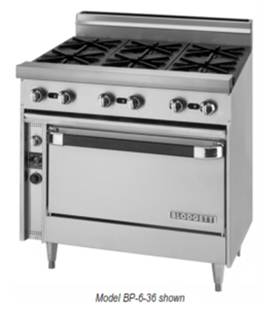 "Blodgett BP-6-36C 36"" 6-Burner Gas Range, NG"