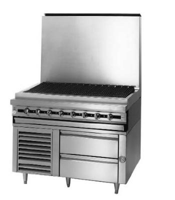"Blodgett BPFLH-02S-T-48 48"" Chef Base w/ (2) Drawers - 115v"