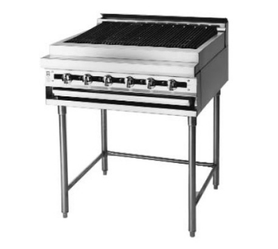 Blodgett BPM-72B LP 72-in Heavy Duty Range, Charbroiler, Infinite Control, Modular Base, LP