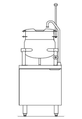 Blodgett Oven CB24E 6K Electric Kettle/Stand Assembly 24 in W 6 gal Kettles 600/3 Restaurant Supply