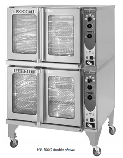 Blodgett HV-100G DBL Double Full Size Gas Convection Oven - NG