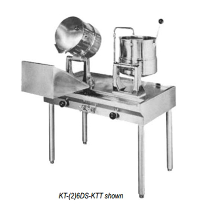Blodgett KT-(2)6DS-KTT Kettle Stand Assembly w/ (2) 6-Gallon Kettles & 40-in Table
