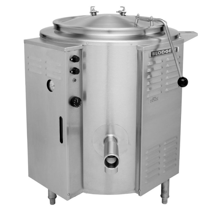 Blodgett KLS 80E 2083 Electric Stationary Kettle, 80 gallon, Tri Legs, Self Contained, 208/3