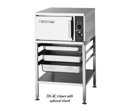 Blodgett Oven SN 3E Countertop Convection Steamer 3 Pans Stainless Leveling Legs 240/1 Restaurant Supply