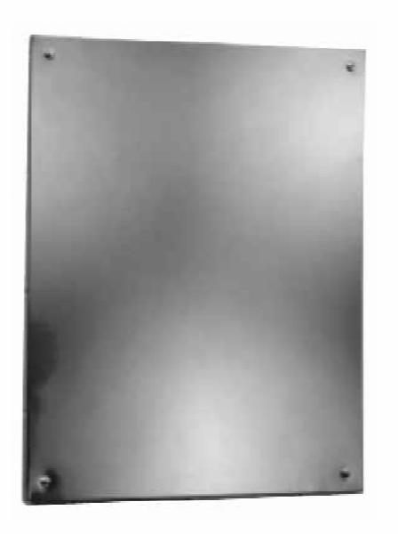 Bobrick B15561830 B-1556 Series Frameless Stainless Steel Mirror, 18 in x 30 in