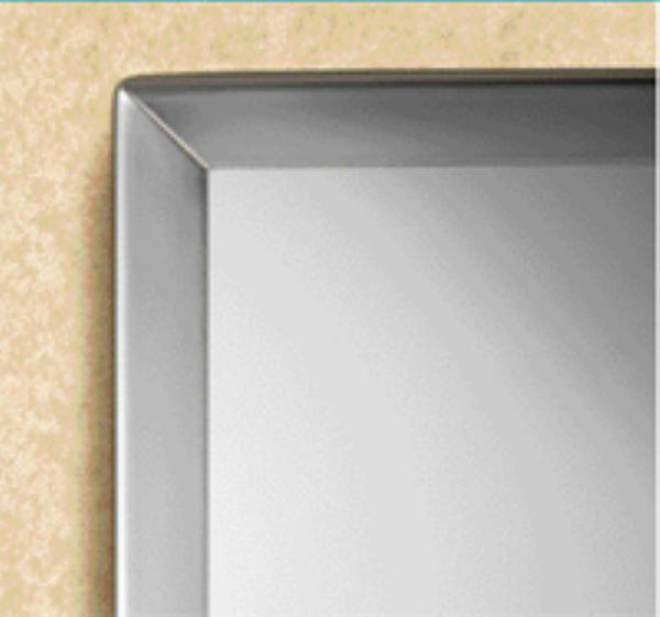 Bobrick B1651836 B-165 Series Channel-Frame Mirror, 18 in x 36 in